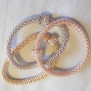 Jewelry - Rhinestone Embellished Metal Bangles